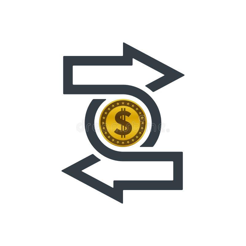 与美元硬币的变动象 皇族释放例证