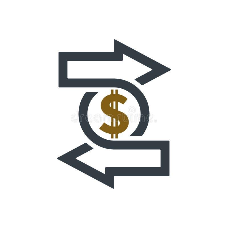 与美元的符号的变动象 皇族释放例证