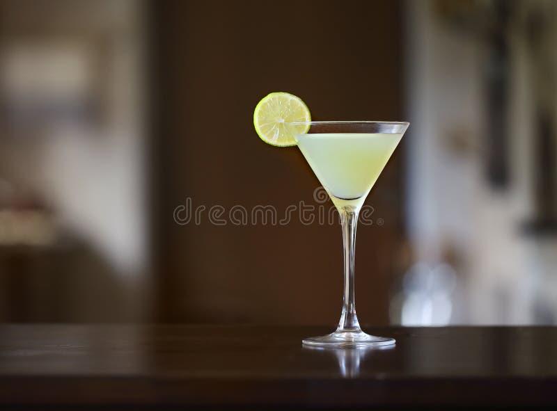 与石灰的代基里酒冻鸡尾酒 免版税库存照片