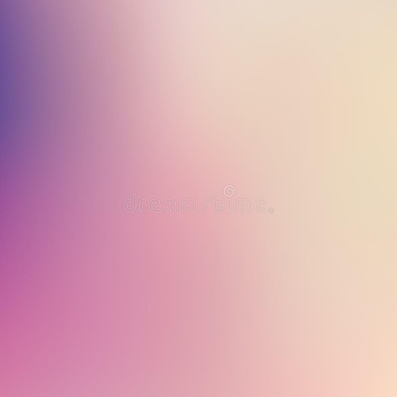 与趋向粉红彩笔的抽象迷离梯度背景,紫色,紫罗兰色,黄色和蓝色为俯就概念,墙纸, 向量例证
