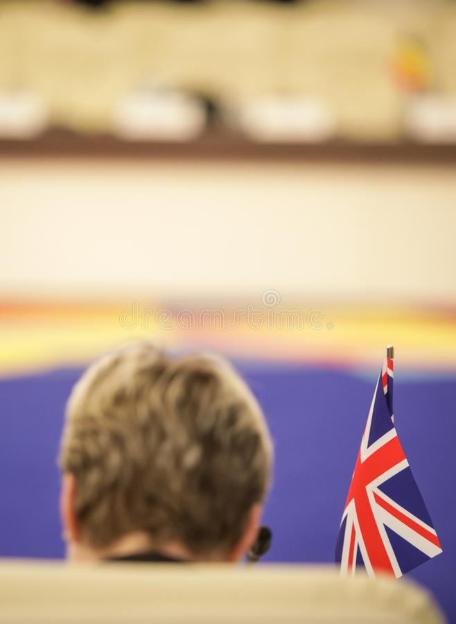 与英国的旗子的细节 免版税图库摄影