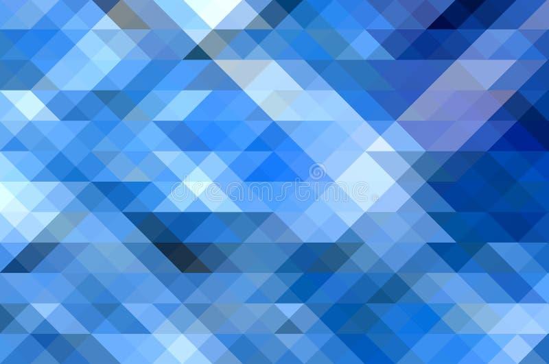 与马赛克作用的蓝色抽象背景 皇族释放例证