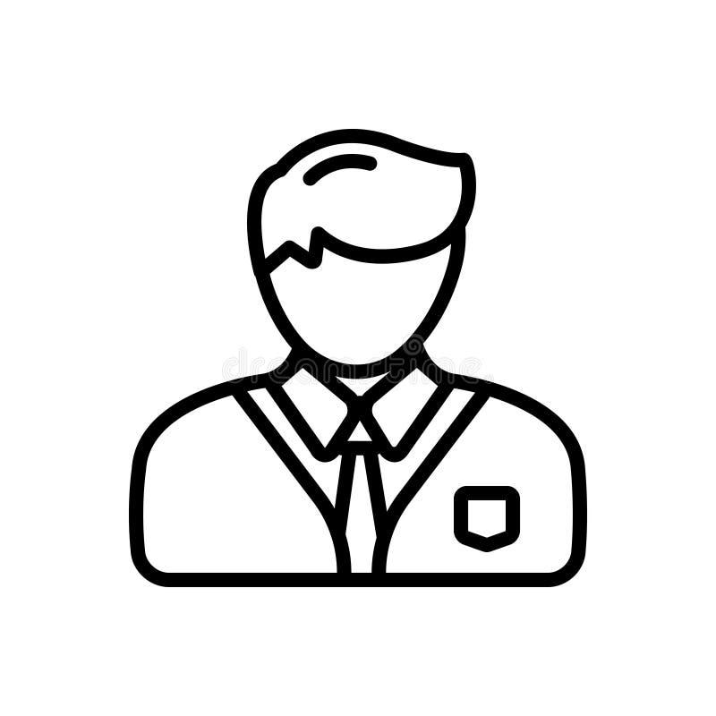 专业,公开宣称和企业家的黑线象 库存例证