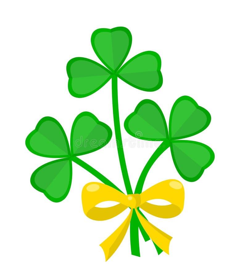 三叶草花束圣徒帕特里克斯天爱尔兰假日 向量例证