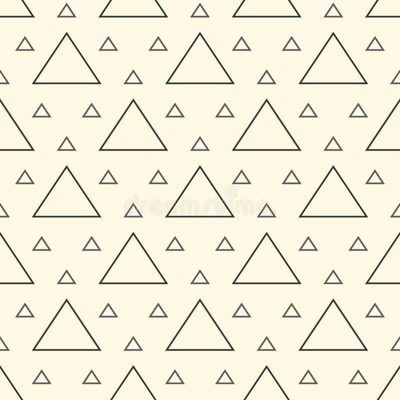 三角变形单色形状现代时髦的重复的几何纹理以栅格的形式 简单和时兴 向量例证