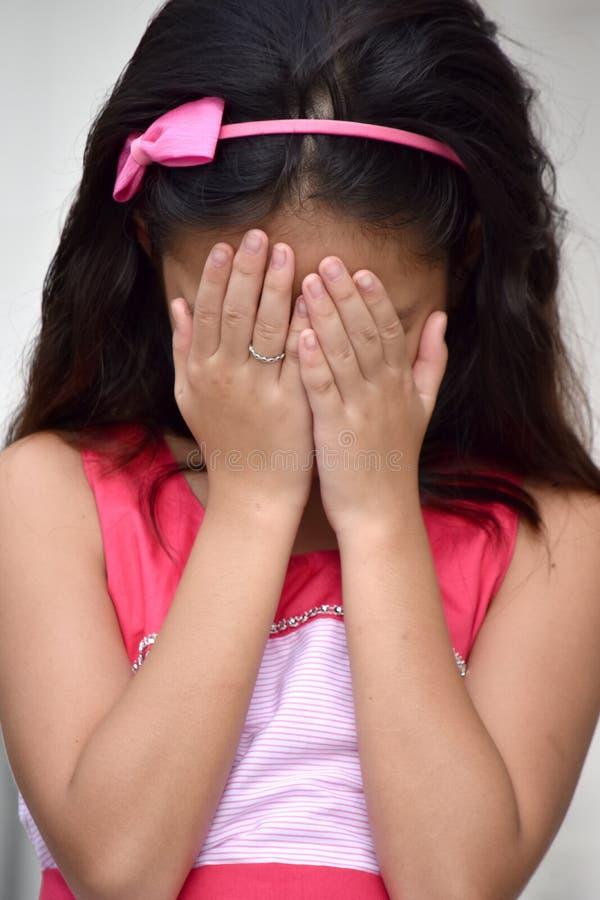 一个失望的女孩青年时期 库存图片
