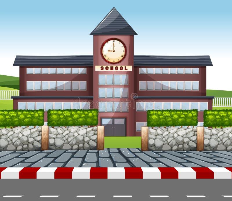 一座现代教学楼 向量例证