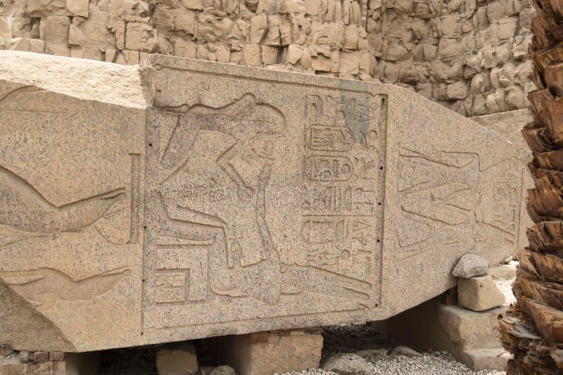 一部分的史特拉 卡尔纳克寺庙的了不起的次附尖霍尔  埃及卢克索 免版税库存照片