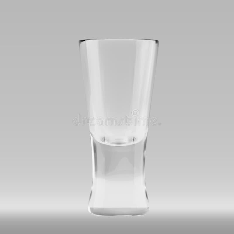 世界性鸡尾酒的空的透明三角玻璃 皇族释放例证