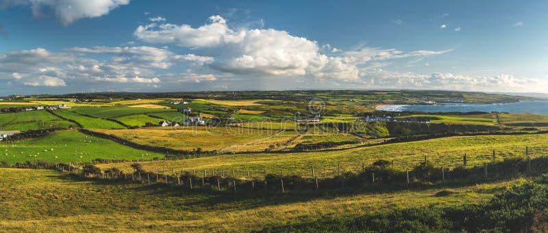 乡下全景 北爱尔兰 图库摄影
