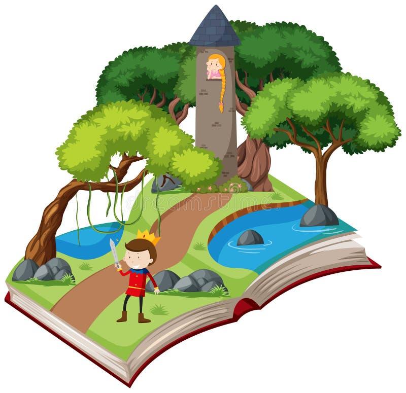 书童话当中故事 向量例证