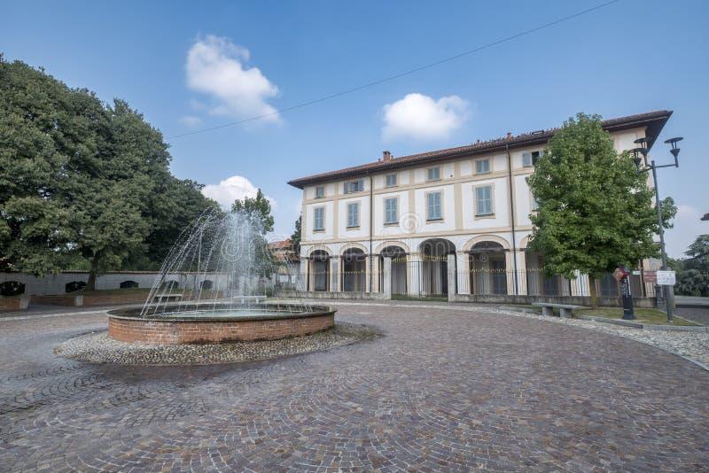 乌斯马泰韦拉泰,历史的别墅Scaccabarozzi 免版税库存照片