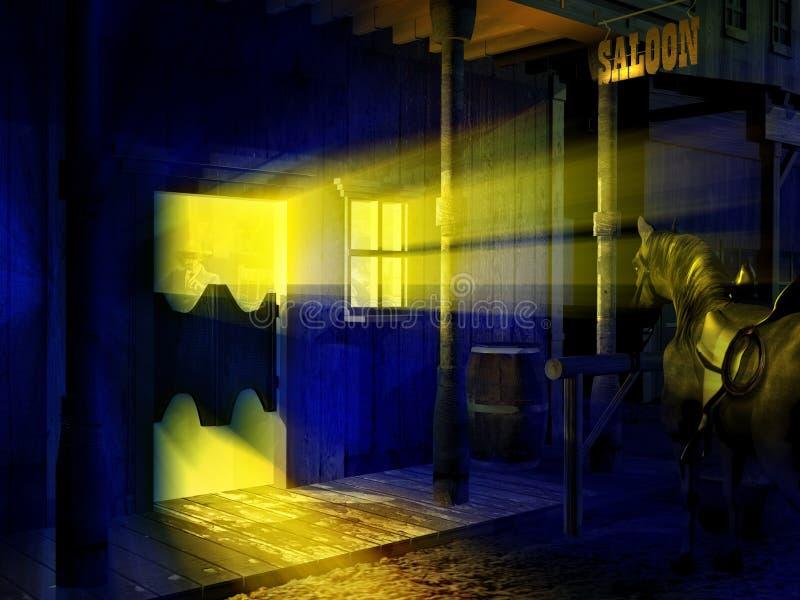 交谊厅入口在晚上 皇族释放例证