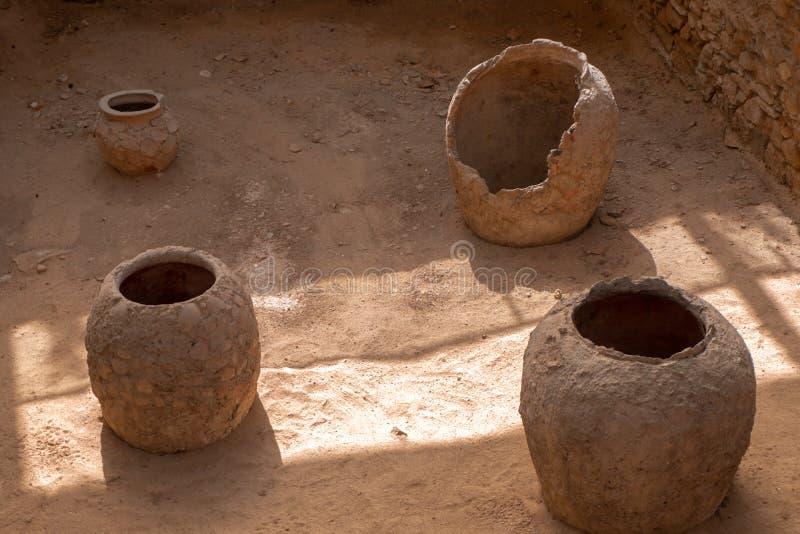 人工制品和希腊的废墟 免版税库存照片