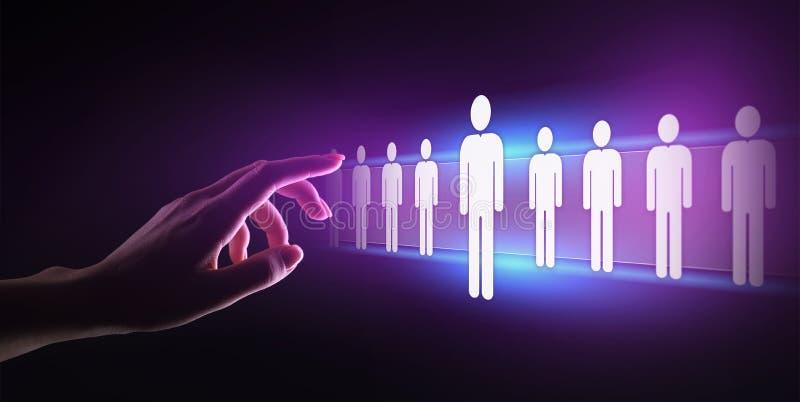 人力资源,人力资源管理,补充,天分被要,就业企业概念 免版税库存照片