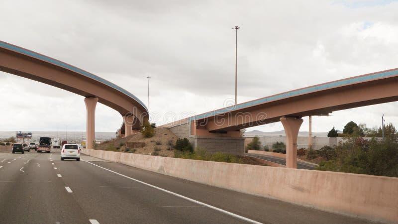 亚伯科基,新墨西哥,I-40跨境与桥梁 图库摄影