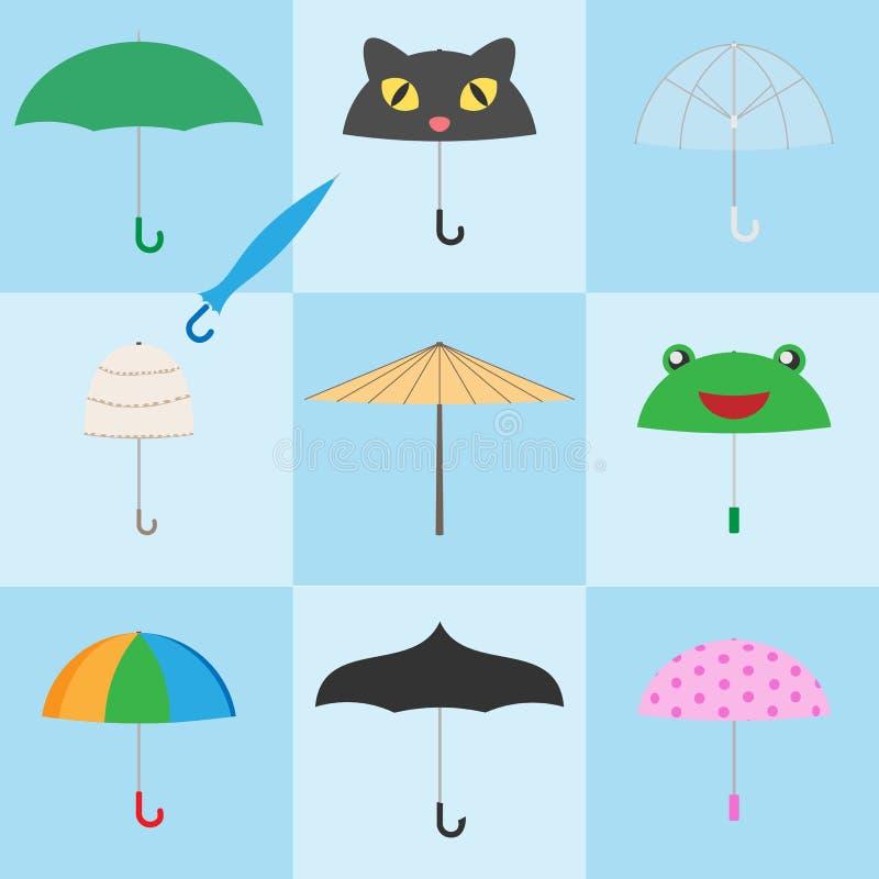 五颜六色的伞象 皇族释放例证