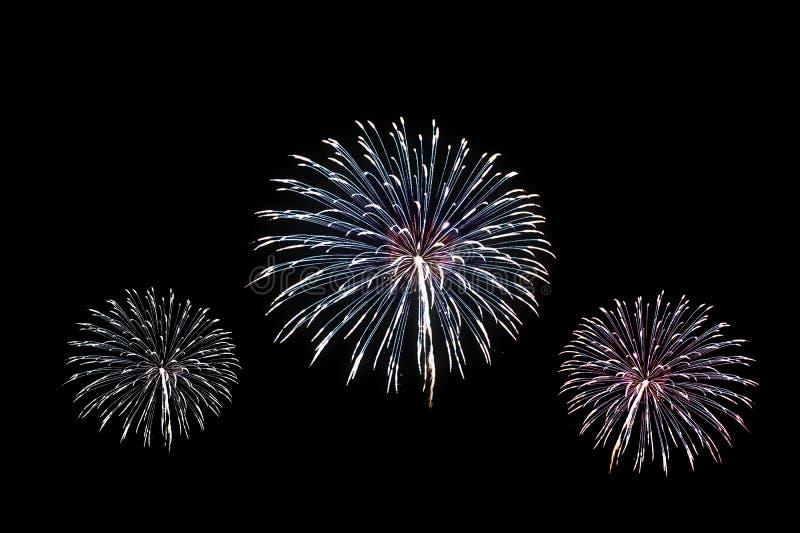 五颜六色的烟花爆炸的庆祝 免版税图库摄影