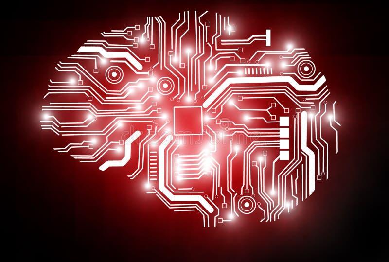 代表人工智能的一个概念性图象 库存例证
