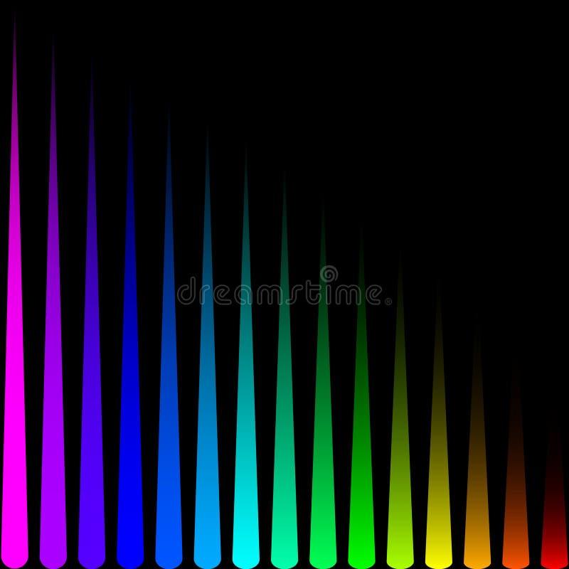 以色的垂直条纹的形式背景 库存例证