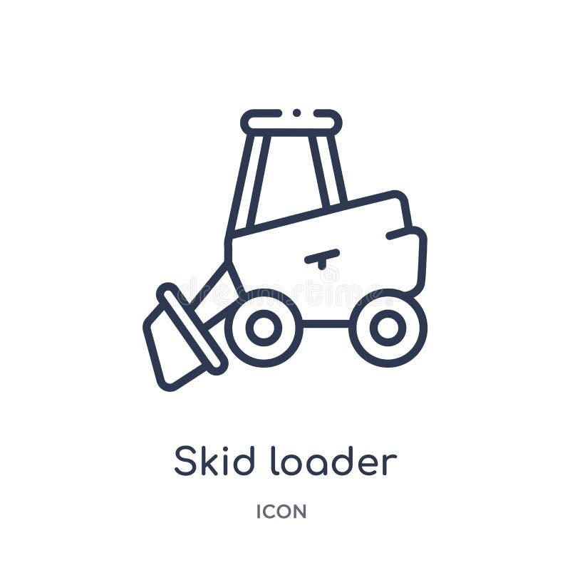 从产业概述汇集的线性滑行装载者象 稀薄的线滑行在白色背景隔绝的装载者象 滑行装载者 库存例证