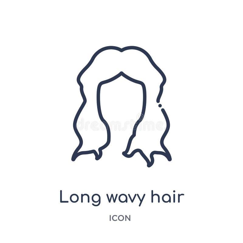 从人体零件概述汇集的线性长的波浪发不同的象 稀薄的线被隔绝的长的波浪发不同的象  皇族释放例证