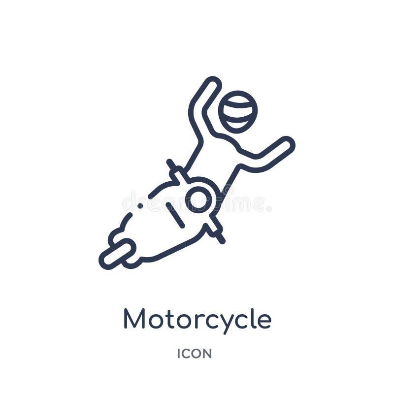 从保险概述汇集的线性摩托车事故象 稀薄的线摩托车在白色背景隔绝的事故象 向量例证