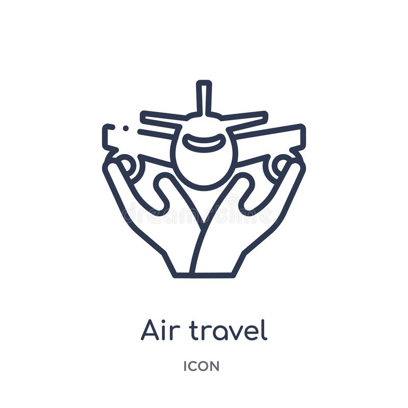 从保险概述汇集的线性航空旅行保险象 稀薄的线航空旅行在白色隔绝的保险象 皇族释放例证