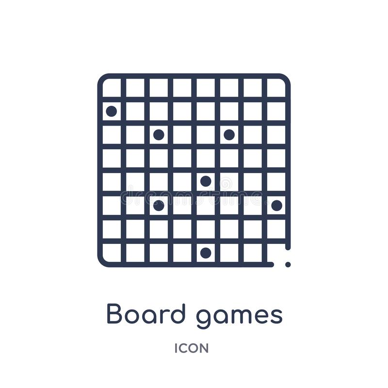 从娱乐和拱廊概述汇集的线性棋象 稀薄的线棋在白色导航隔绝 向量例证