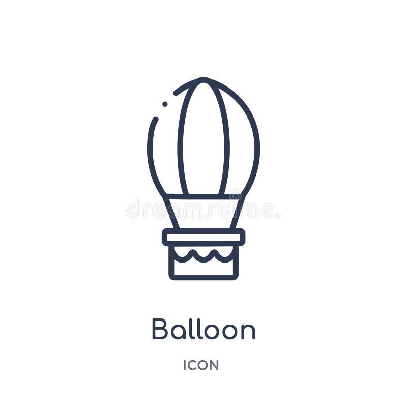 从适应概述汇集的线性气球象 稀薄的线在白色背景隔绝的气球象 时髦的气球 库存例证