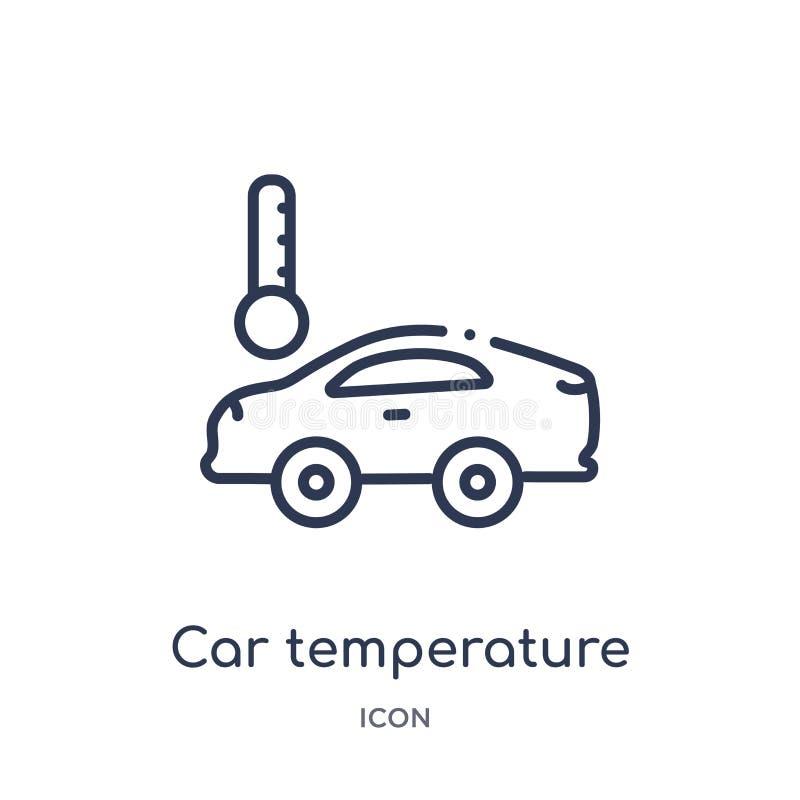 从Mechanicons概述汇集的线性汽车温度象 稀薄的线汽车在白色背景隔绝的温度象 汽车 库存例证