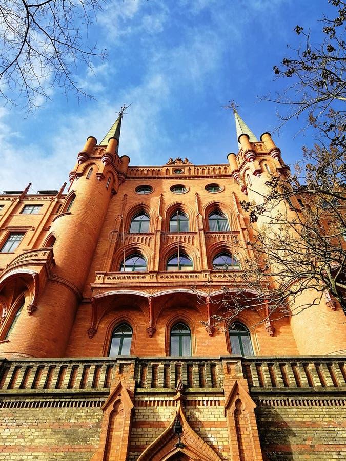 什切青,波兰美好的老建筑学  免版税库存照片