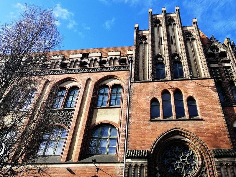 什切青,波兰美好的老建筑学  库存照片