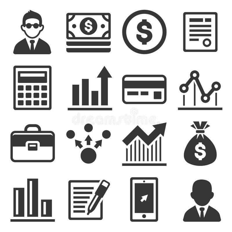 企业、金钱和管理象集合 向量 库存例证