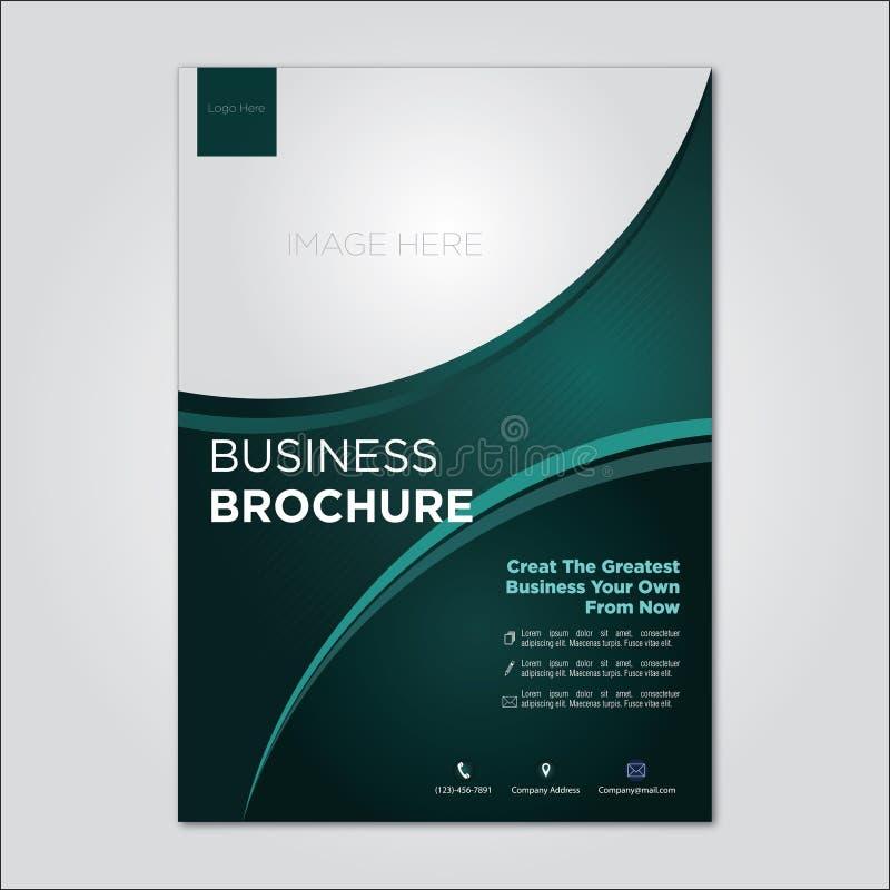 企业小册子公司模板黑暗的tosca模板 库存例证