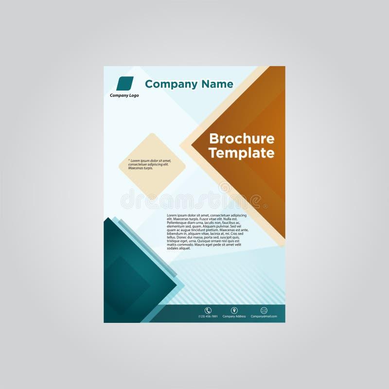 企业小册子每年tosca模板 皇族释放例证