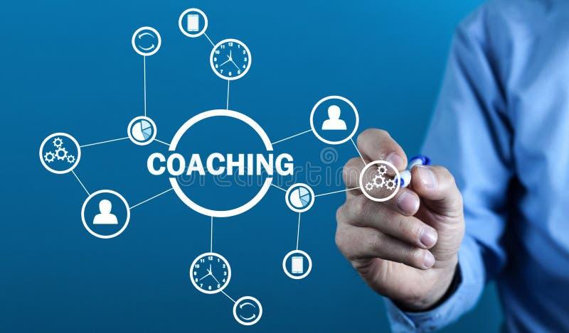 企业教练 个人发展概念 技术,互联网的概念 免版税库存照片