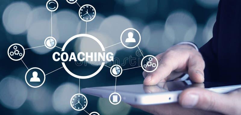 企业教练 个人发展概念 技术,互联网的概念 库存照片