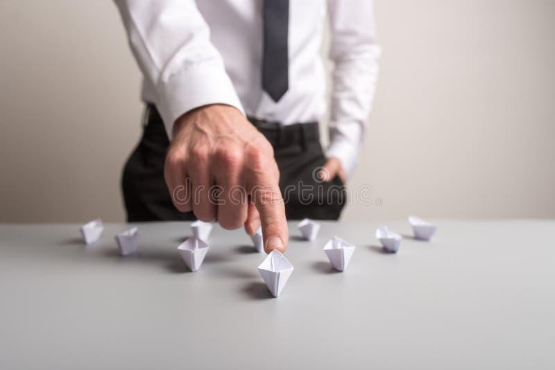 企业领导的概念性图象 库存图片