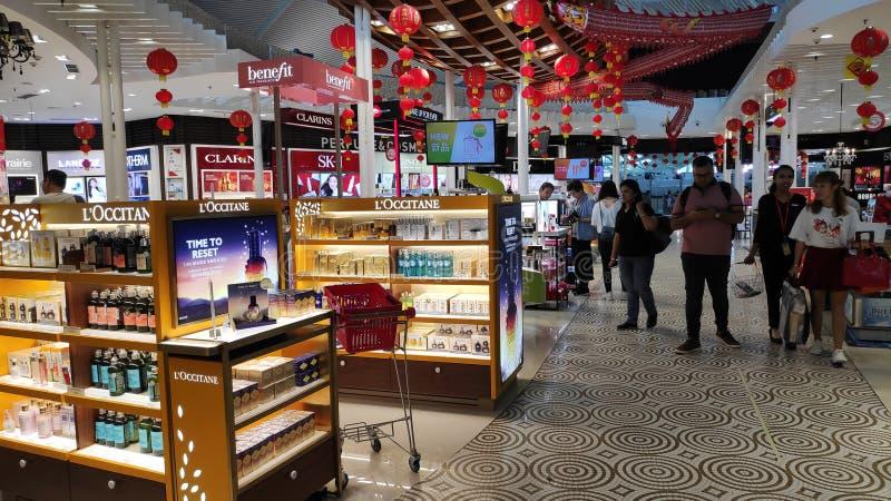 伍拉・赖国际机场免税商店地区  库存图片