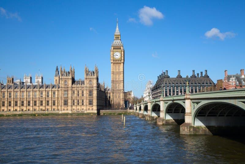 伦敦 本大钟塔 免版税库存照片
