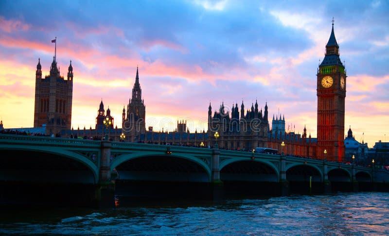 伦敦 本大钟塔 库存照片