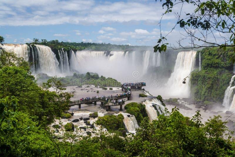 伊瓜苏瀑布,巨大的瀑布,巴西 库存图片