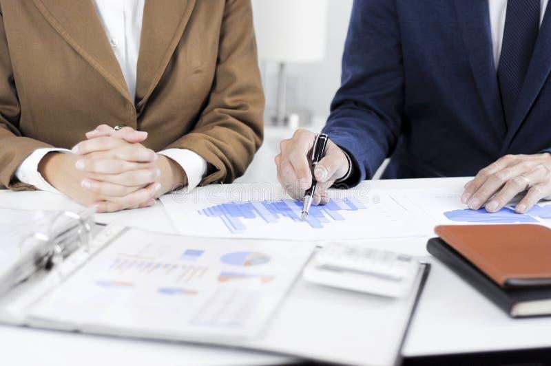 会计计划,投资管理,遇见顾问,管理回顾,想法的介绍 图库摄影