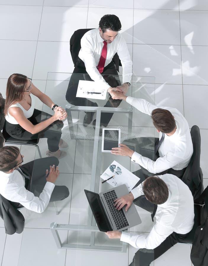 会议的不同的商人 免版税库存照片