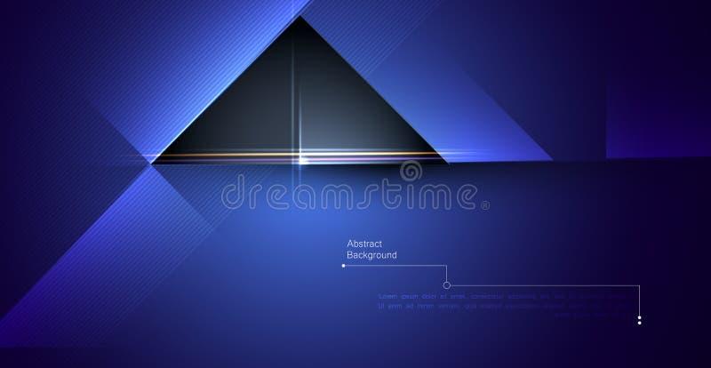 例证抽象红色,蓝色和黑金属与光线和光滑的线 金属框架设计梯度颜色为 皇族释放例证