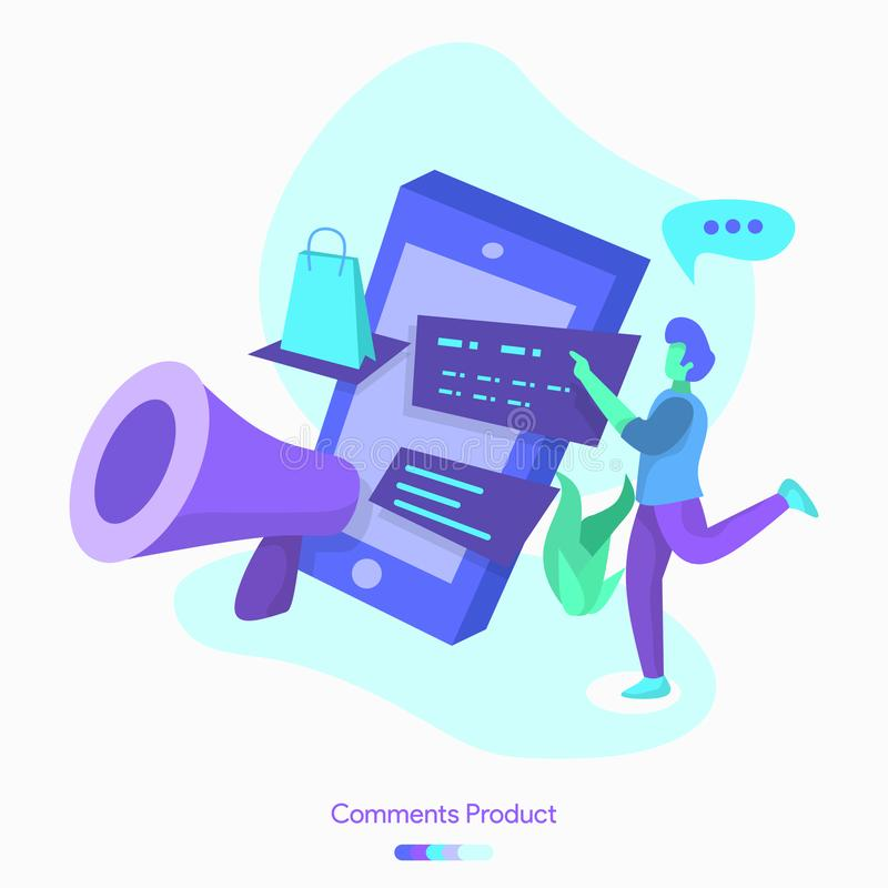 例证评论产品 向量例证