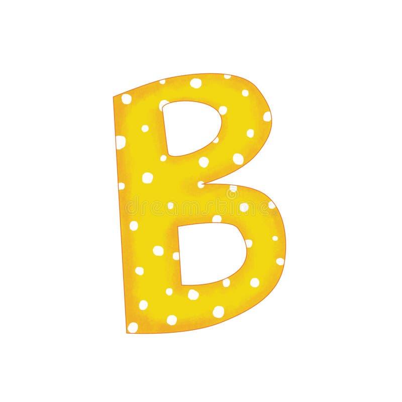 信件b种类 库存例证