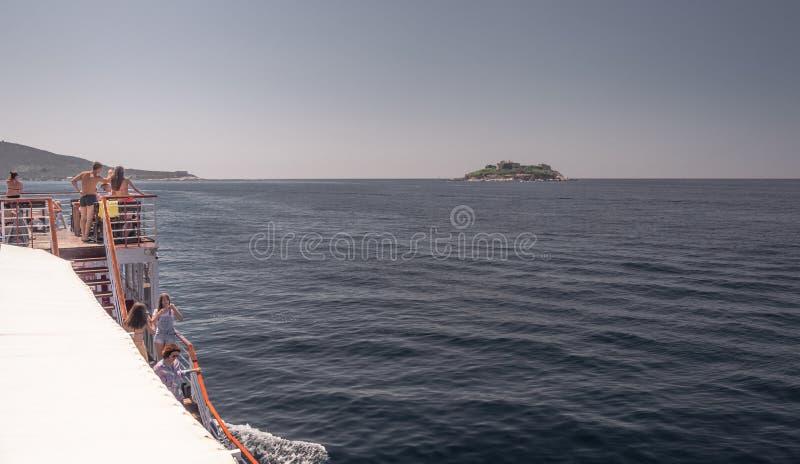 俄国 海岛在科托尔湾,黑山 库存照片