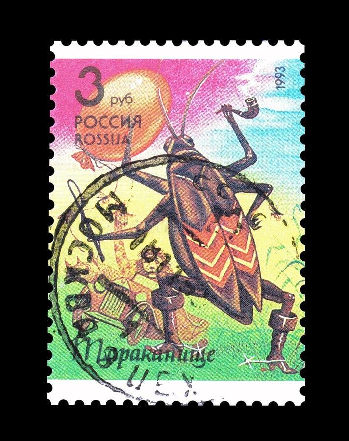 俄罗斯打印的邮票 图库摄影